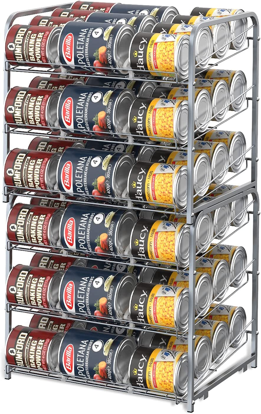 HAITRAL 2 Pack Can Super sale Rack Storage 3 Tier Stackable Special price for a limited time Organizer