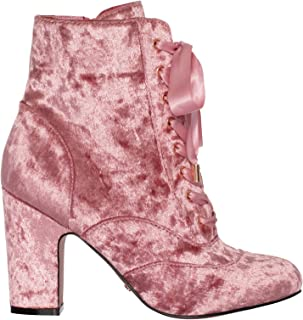 Review Women's Luxe Velvet Boot Blush Pink