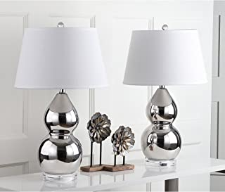 Safavieh Lighting Collection Jill Silver Double Gourd 25.5-inch Table Lamp (Set of 2)