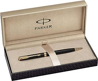 Parker - Sonnet 07: Matte Black Slim GT Ballpoint, Gold Trims, Twist Mechanism.