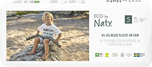 Eco by Naty, Size 5, 80 Nappies, 11-25kg, Plant-Based