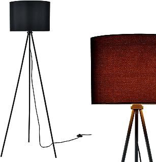 [lux.pro] lampadaire (1 x socle E27)(150cm x 60cm) abat-jour (noir) parasol et lampadaire à trois pieds