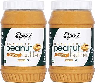 Diruno® Classic Peanut Butter Crunchy 1kg (Gluten Free, Non-GMO) Pack of 2