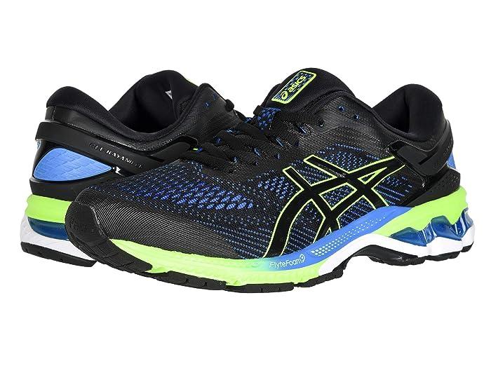 ASICS  GEL-Kayano 26 (Black/Electric Blue) Mens Running Shoes
