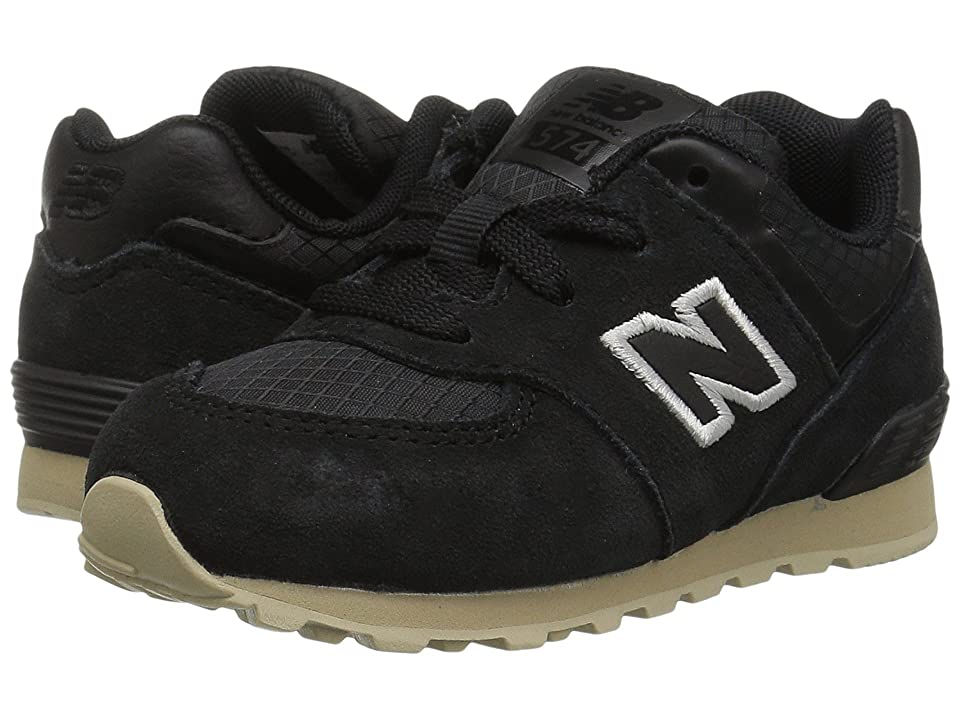 New Balance Kids KL574v1I (Infant/Toddler) (Black/Tan) Boys Shoes