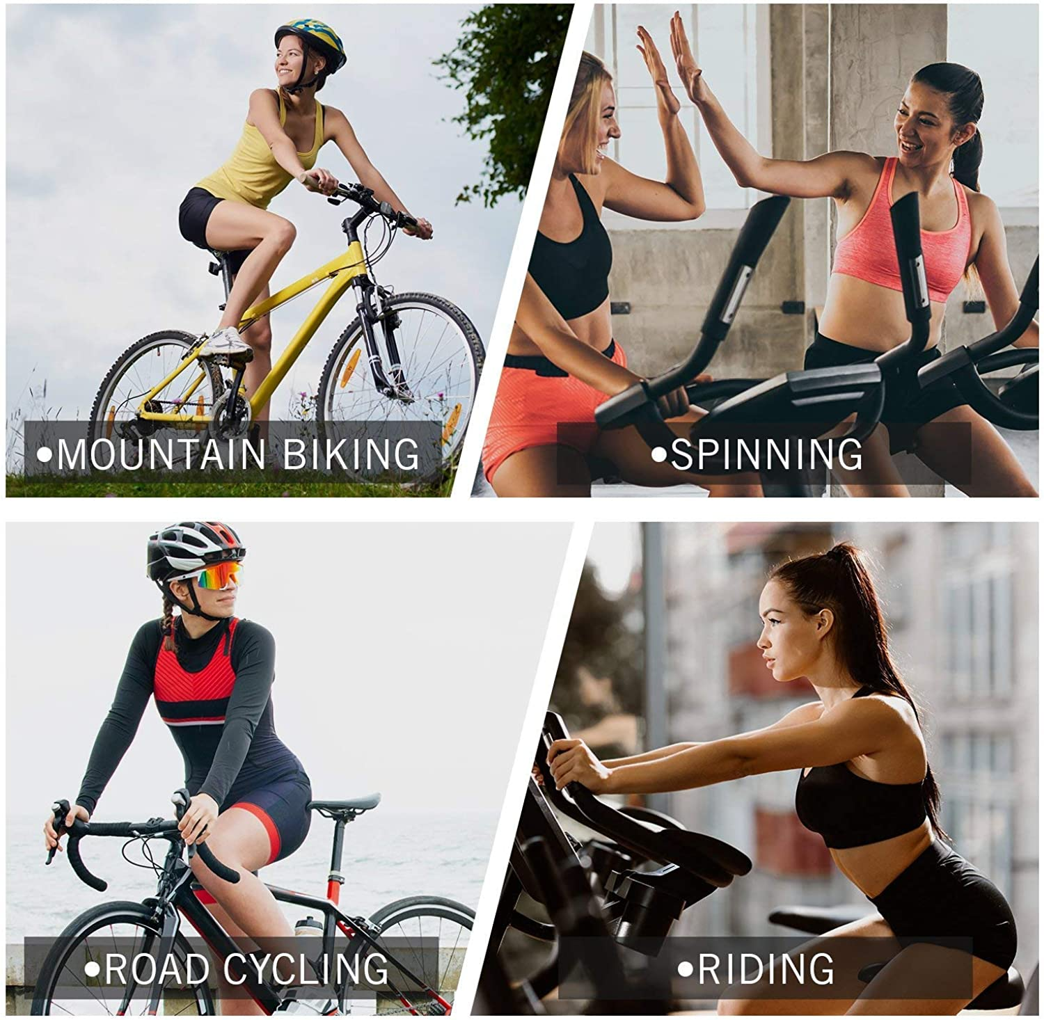 for Cycling BALEAF Womens Bike Shorts with 3D Gel Padded Wide Waistband UPF 50