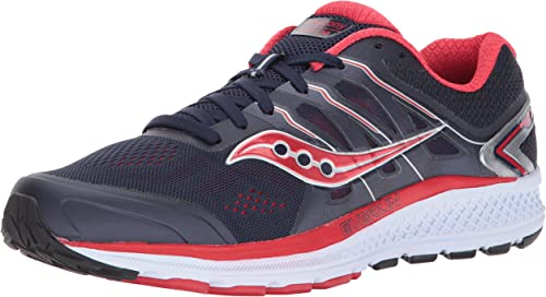 Saucony Hommes's Omni 16 FonctionneHommest chaussures, Navy rouge, 9 M US