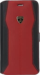 Automobili Lamborghini Huracan D1 Genuine Leather Ultra Slim Flip Case For iPhone 6 Plus/6S Plus (Red)