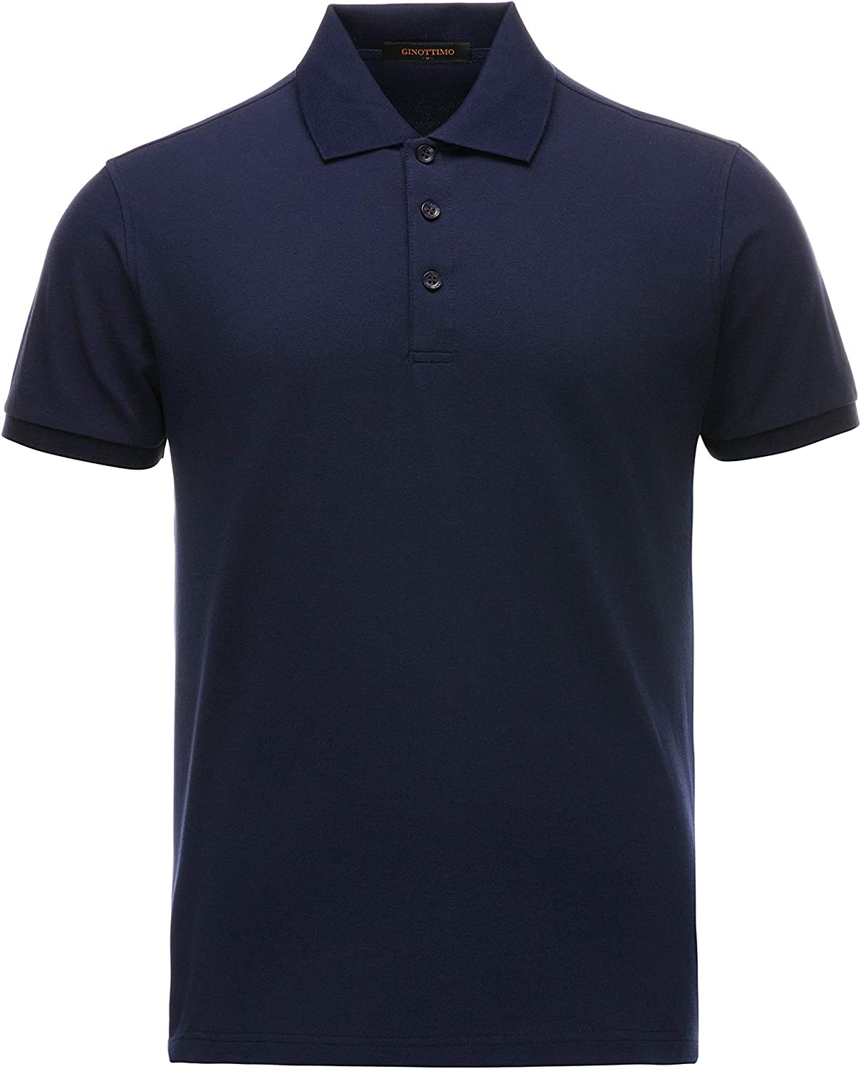 Men's Slim-Fit Cotton Polo Shirts Popular Sweat Wicking Max 86% OFF Breathable Short