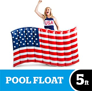 BigMouth Inc. Giant Waving American Flag Pool Float, Red, White & Blue – Gigantic 5 Foot Pool Float, Funny Inflatable Vinyl Summer Pool or Beach Toy, Makes a Great Gift Idea, Patch Kit Included
