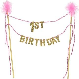 Mud Pie First Birthday Cake Topper Glitter Princess