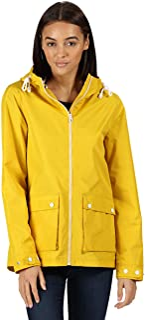 Regatta Women's Coastal Waterproof Hooded Outdoor Lifestyle Jacket Shell, YellowSulphr, 16