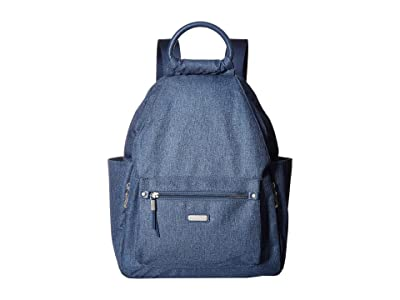 Baggallini New Classic Heritage All Day Backpack with RFID Phone Wristlet (Steel Blue) Backpack Bags