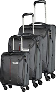 American Tourister Luggage Trolley Bags For Unisex, 3 Pieces - Black