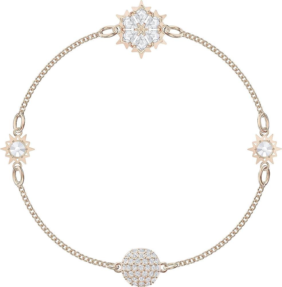 Swarovski strand remix collection, placcato oro rosa bracciale per donna 5512038