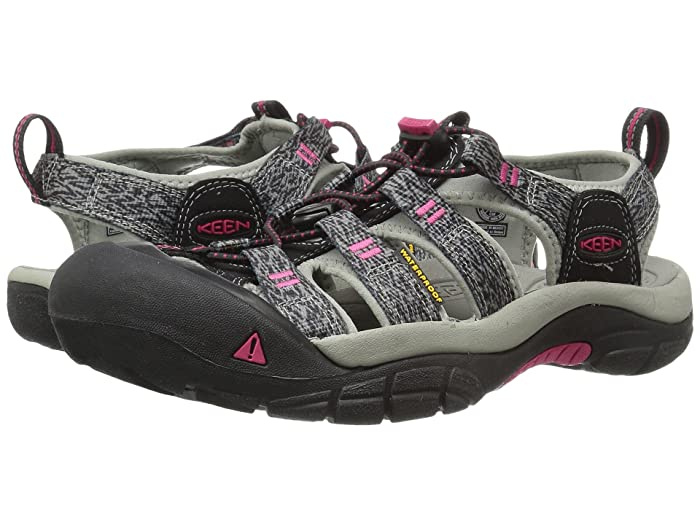 Keen Newport H2 (Black/Bright Rose) Women's Shoes