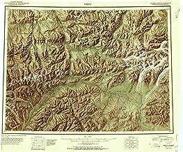 YellowMaps Healy AK topo map, 1:250000 Scale, 1 X 3 Degree, Historical, 1951, 22 x 26.8 in
