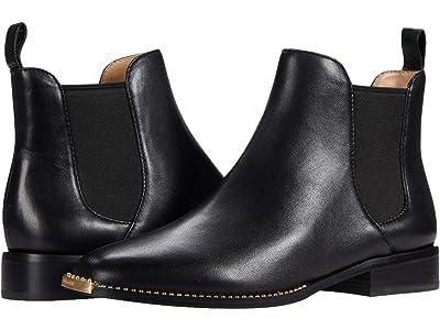 COACH Nichole Leather Bootie (Black) Women