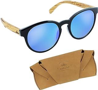 e10d2ff1d7 CURVAN - Gafas de Sol Polarizadas Mujer Hombre Unisex | Estilo Moda Redonda  Clásica | 100