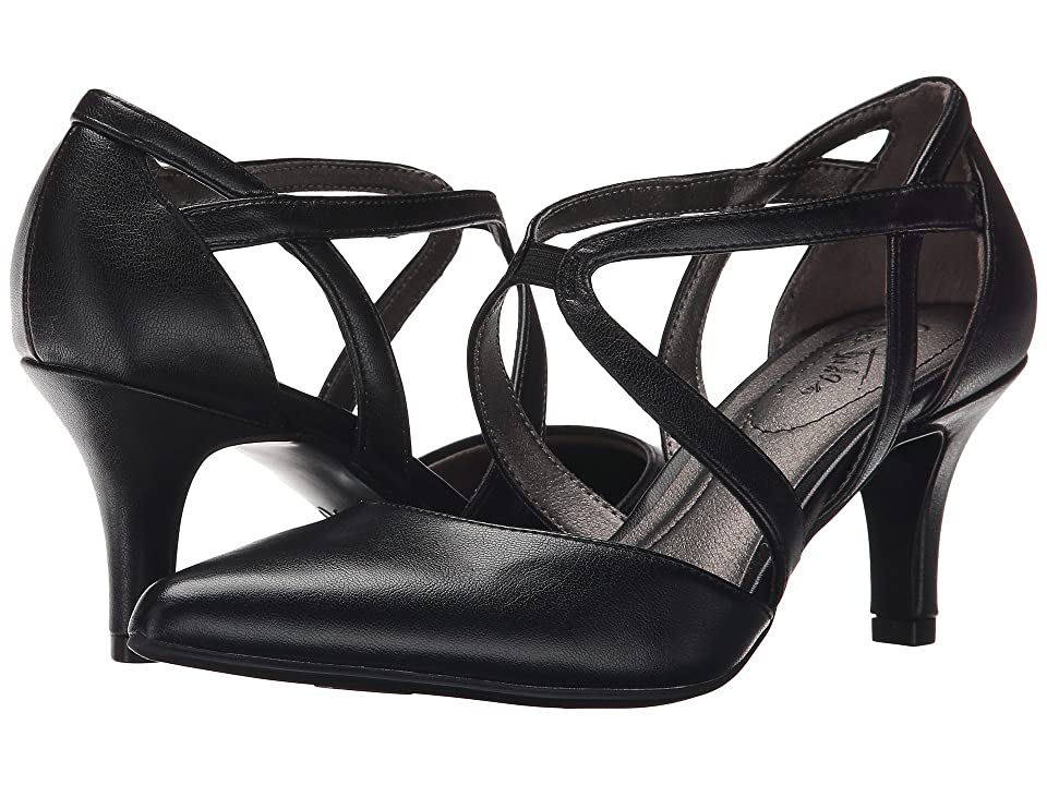 1930s Style Shoes – Art Deco Shoes LifeStride Seamless Black Vinci High Heels $59.99 AT vintagedancer.com