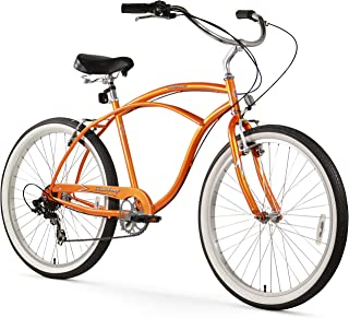 Firmstrong Urban Man Single Speed Beach Cruiser Bicycle, 26-Inch, Orange