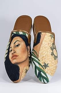 AESCA Womens Taray Mules Handmade Slides Kayumanggi Flats Summer Shoes