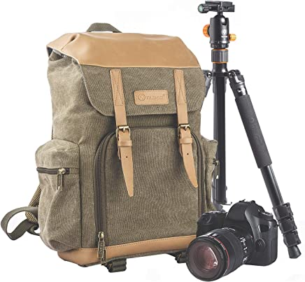 668d4517a334 TARION M-02 Canvas Camera Backpack Water-Repellent Camera Bag for DSLR SLR  Mirrorless