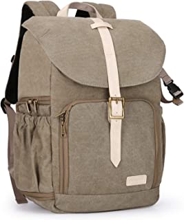 BAGSMART Camera Backpack, Anti-Theft DSLR SLR Camera Bag Water Resistant Canvas Backpack Fit up to 15