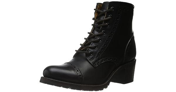 FRYE Womens Sabrina Brogue-VPU Combat Boot