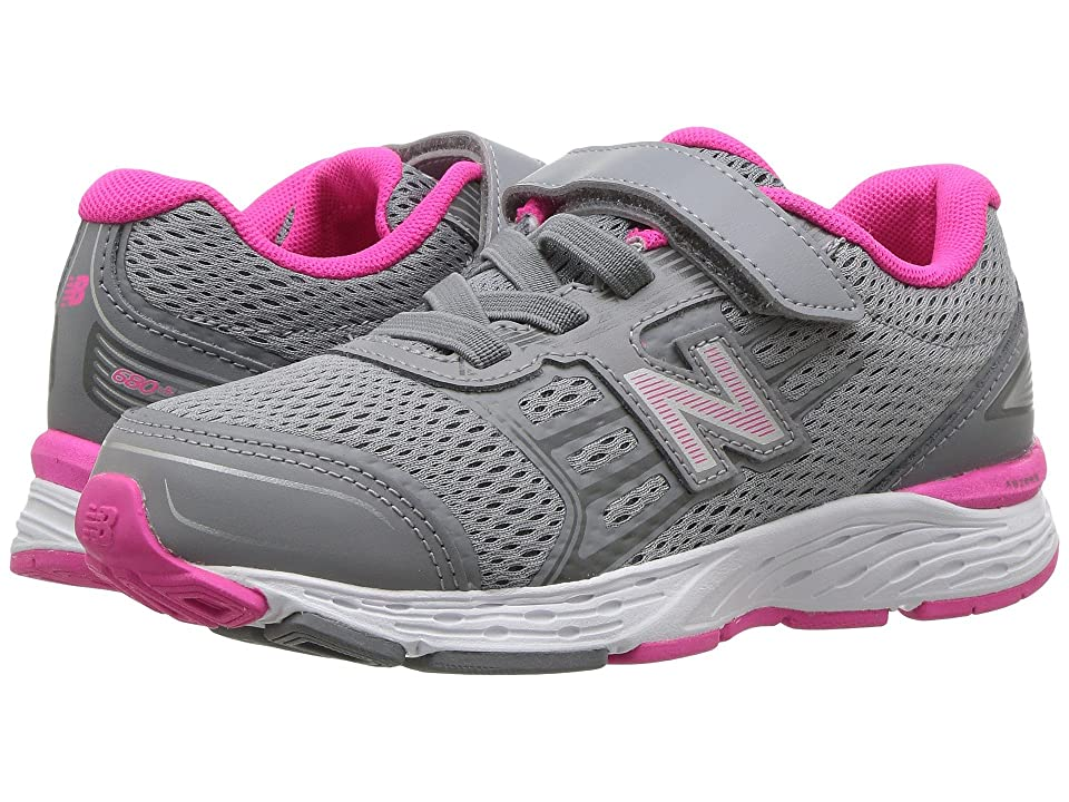 New Balance Kids KA680v5Y (Little Kid/Big Kid) (Steel/Pink Glo) Girls Shoes