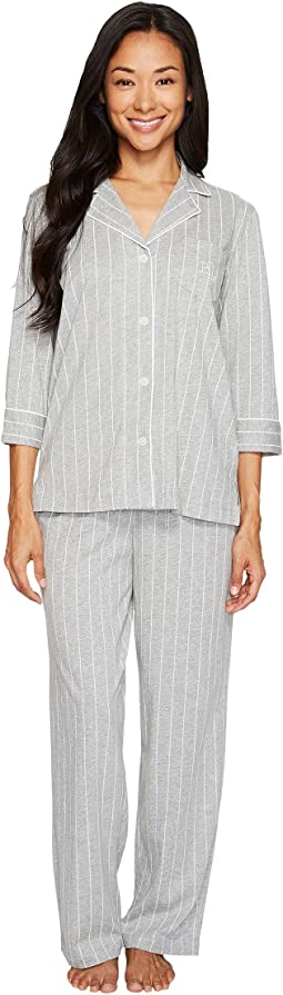 LAUREN Ralph Lauren - Petite Cotton Jersey Notch Collar PJ Set