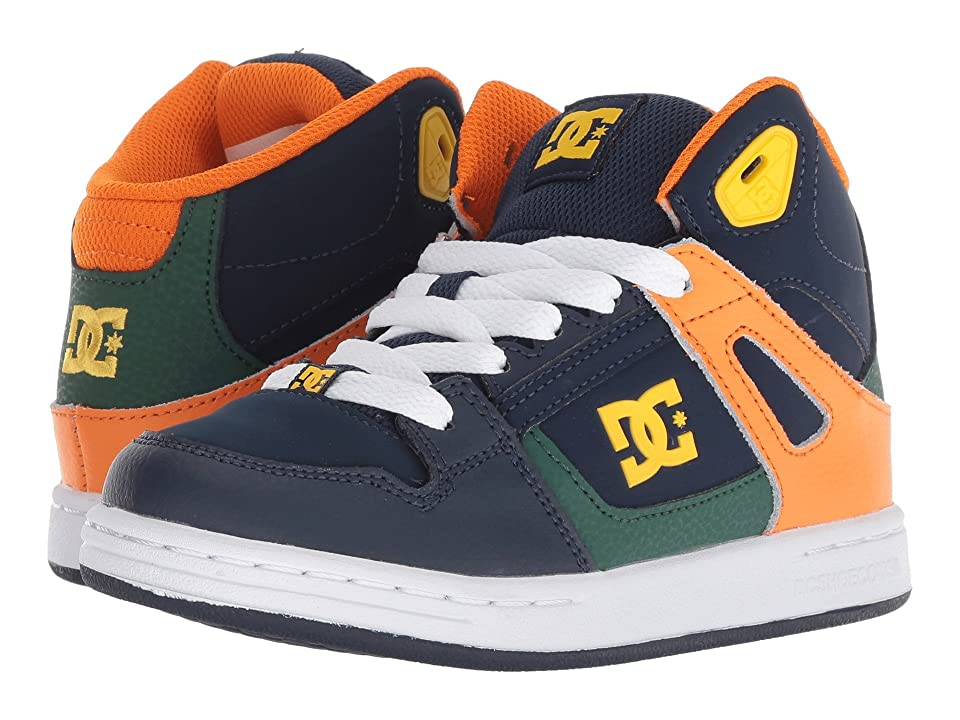 DC Kids Pure High-Top (Little Kid/Big Kid) (Multi) Boys Shoes