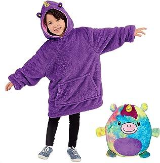 Pets Hoodie, Plush Animals Turn into Oversized Hooded Sweatshirt Pullover Jumper Bathrobe Pajama Pillow, One Size Children...