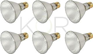 (بسته 6) 39PAR30L / FL 120V - خروجی بالا 39 وات (جایگزینی 50 وات) سیل گردن طولانی PAR30 - لامپهای هالوژن هالوژن 120 ولت - قابل تنظیم - استفاده در محیط داخلی / فضای باز