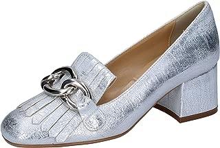 OLGA RUBINI Moccasins Womens Leather Silver