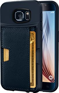 Smartish Galaxy S6 Wallet Case - Q Card Case for Samsung Galaxy S6 - Ultra Slim Protective Kickstand Credit Card Carrying Case (CM4) - Midnight Blue