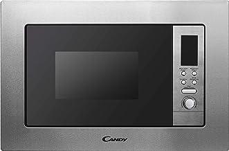 Candy MIG1730DX - Microondas integrable con grill y marco, Display digital rojo, Potencia 700W-1000W, Capacidad 17L, 8 Programas, Acero Inox antihuellas