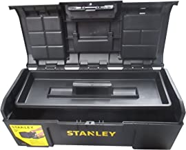 Stanley Basic 1-79-218 Gereedschapskist (24 inch, 60 x 28 x 26 cm, trolley van kunststof, koffer met snelsluiting en organ...