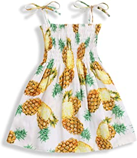 Happy Town Toddler Baby Girls Summer Dress Outfits Sunflower Ruffle Strap Elastic Sundress Beach Clothes