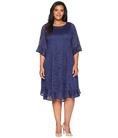 Kiyonna Livi Lace Dress (Nouveau Navy) Women