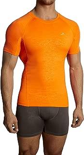 Mission Men's VaporActive Compression Shirt, Orange, Large