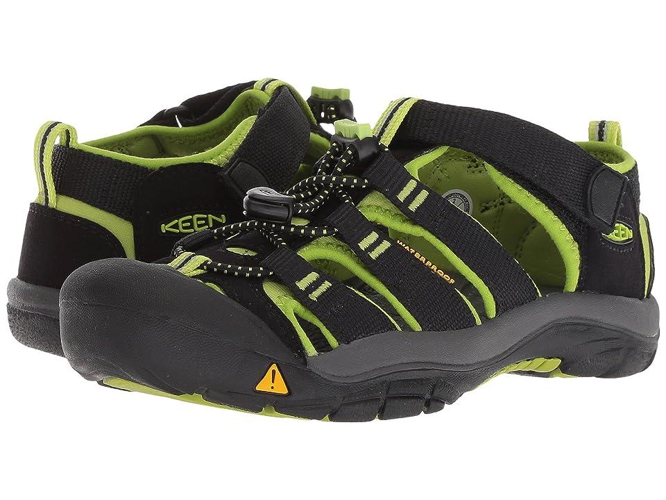 Keen Kids Newport H2 (Little Kid/Big Kid) (Black/Lime Green) Boys Shoes
