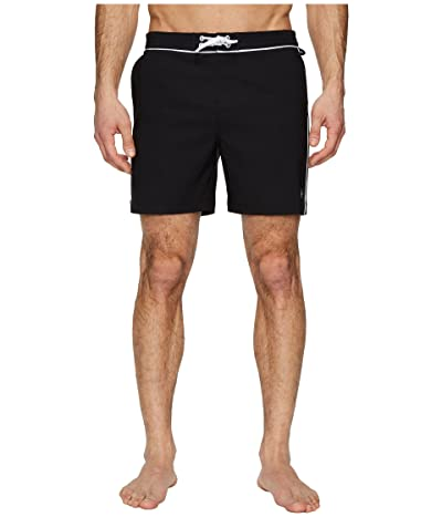 Original Penguin The Earl Volley Swim (True Black) Men