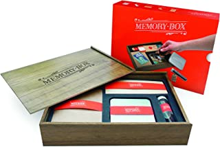 Luckies Of London Memory Box for Keepsakes - Wooden Storage Box With Containers For Memories, Memento's, Photos 9 x 12.2 x 2.4 inches