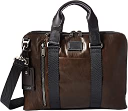 Tumi Alpha Bravo Aviano Leather Slim Brief