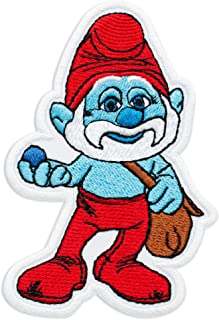 The Smurfs Papa Smurf Film Cartoon Comics Embroidered Patch Iron On (2.6