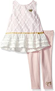 Juicy Couture 橘滋 女幼童 时尚上衣和紧身裤套装 Light Pink/Vanilla 3T
