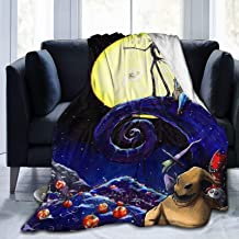 "The Nightmare Before Christmas Super Soft Light Weight Throw Blanket Summer Quilt for Bed Couch Sofa 50""x40"" Small for Kid"