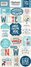 Echo Park Paper Company CW162022 Celebrate Winter 6x12 Phrases chipboard 6-x-12-Inch Red/Blue/Navy/Green/White