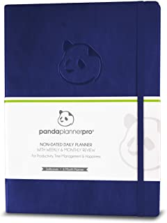 """$30 » Panda Planner Pro - Best Daily Planner for Happiness & Productivity - 8.5 x 11"""" Softcover - Undated Day - Guaranteed to Ge..."""